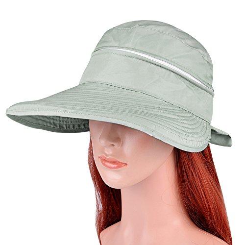 b1db6d34a71 Bienvenu Sun Protective Hat Women s Foldable Big Brim Beach Hat Cap ...